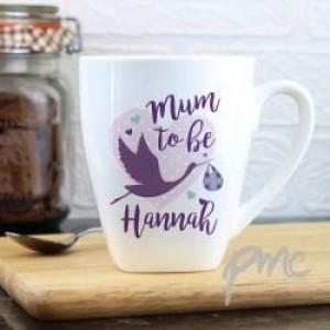 Personalised Mum to Be Stork Latte Mug