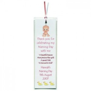 Personalised Naming/Christening Day Bookmark