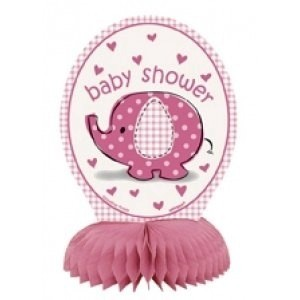 Girl Umbrellaphants Set of Mini Honeycomb Centrepieces