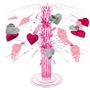 A Pink Gingham Mini Cascade Centrepiece