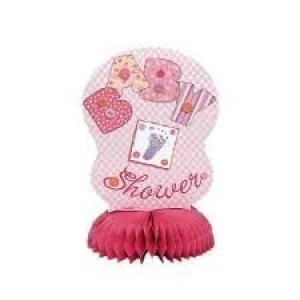 Baby Girl Stitchings Honeycomb Decorations