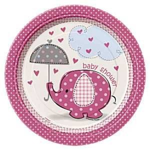 Girl Umbrellaphants Pack of Dessert Plates