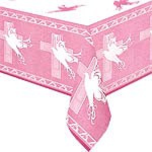 Pink Faithful Dove Tablecover