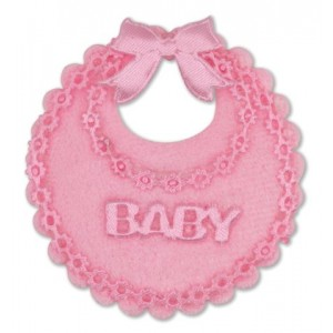 Baby Girl Mini Decorative Bib