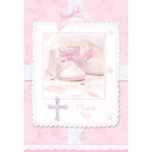 Pack of 8 - Tiny Blessings Pink Thank You Cards