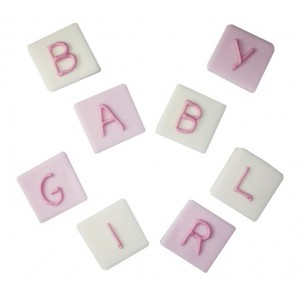 Pink Baby Girl Blocks Icing