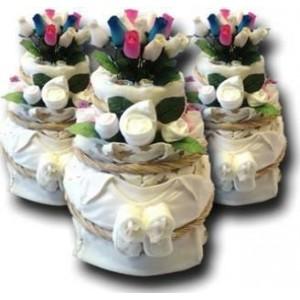 Rainbow Nappy Cake