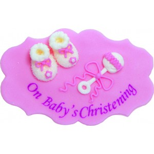 Christening Cake Decoration - Girl