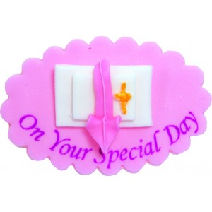 Pink Christening Special Day Icing