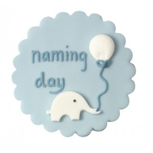 A Baby Boy Naming Day Cake Decoration