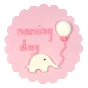A Baby Girl Naming Day Cake Decoration