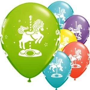 Assorted Carousel Horses Balloons