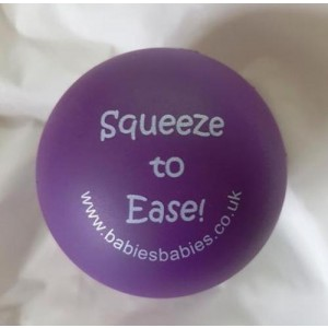 Purple Squeeze ball with persoanlised label