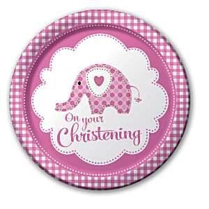 Sweet Baby Elephant Girl Plates