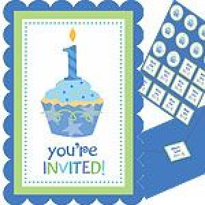 A Sweet Little Cupcake Boy Invitation