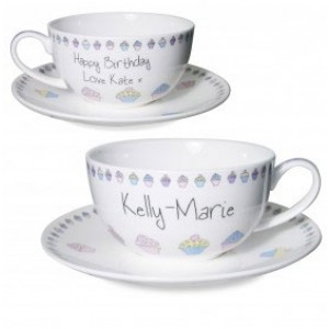 As Pretty as a Cupcake Personalised Cup & Saucer