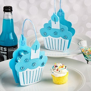 A Blue Cupcake Treat Bag