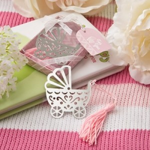 pink baby carriage bookmark
