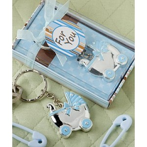 A Baby Boy Carriage Key Chain