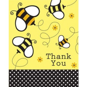 A Buzzie Bee Thank You Card