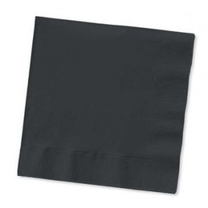 Pack of 25 Black Napkins