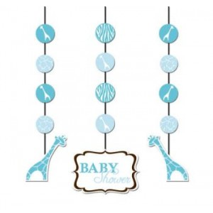 A Blue Wild Safari Set of Hanging Decorations