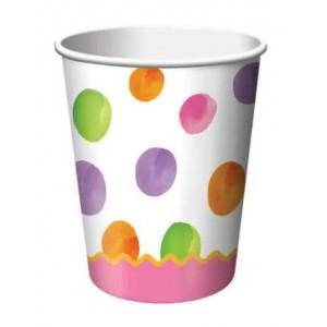 1st Birthday Girl Dots Cups