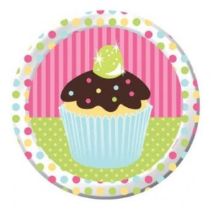 A Pack of 8 Sweet Treats Dinner Plates