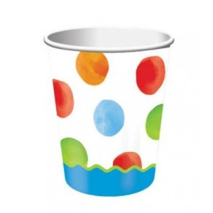1st Birthday Boy Dots Cups