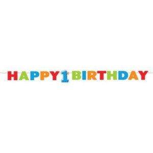 1st Birthday Boy Dots Foam Letter Banner
