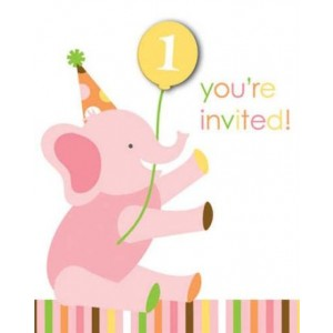 Sweet at One Girl Invitation