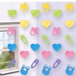 pastel string decorations