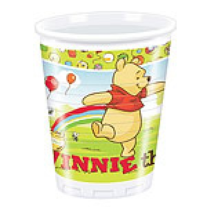 Winnie The Pooh Cups - 180ml Plastic Party Cups