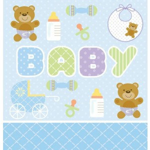 Blue Teddy Bear Tablecover
