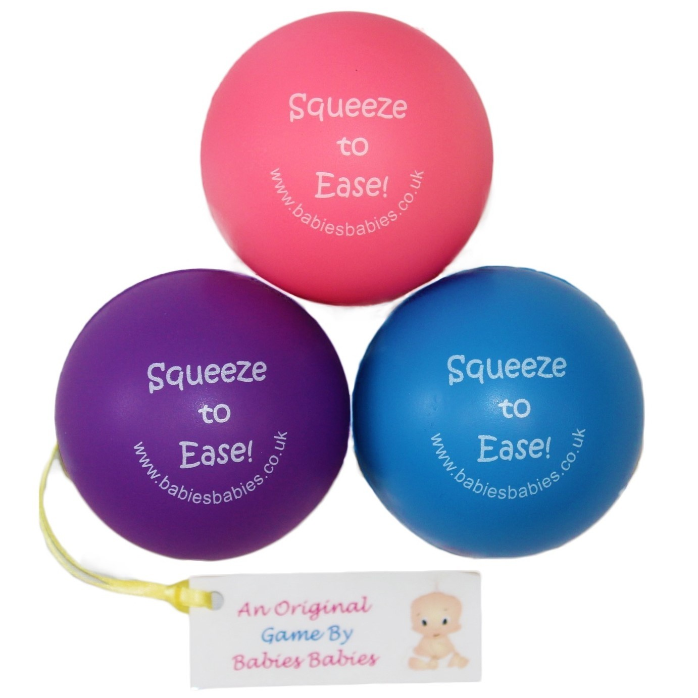 Squeeze To Ease Labour Stress Ball with Personalised Label