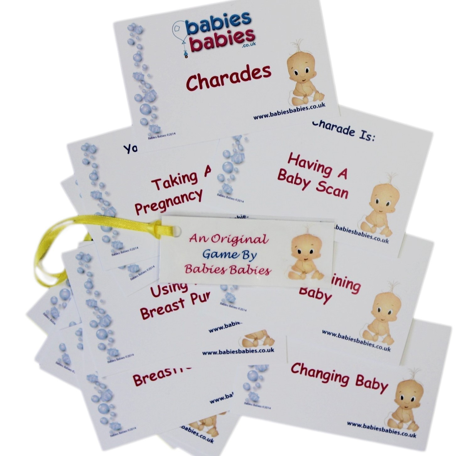 Baby shower charades pack of 12