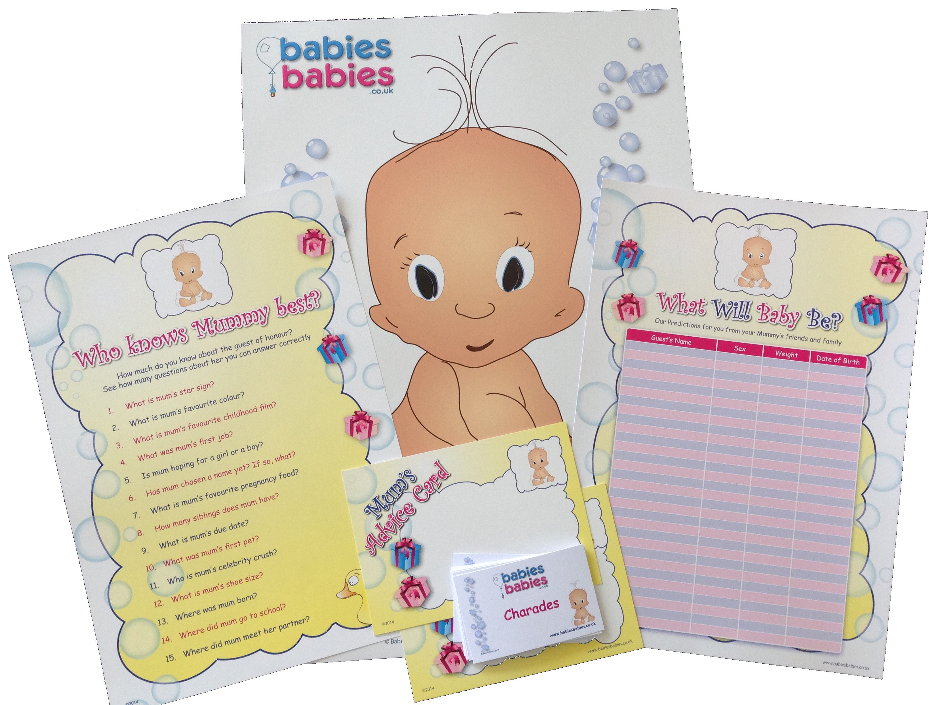 The Best Baby Showers Games ~