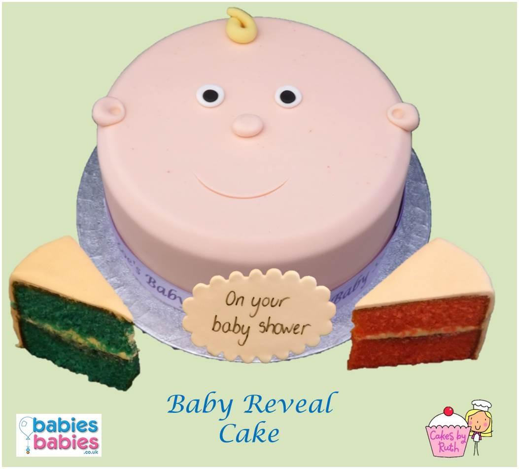 baby shower reveal cake white baby