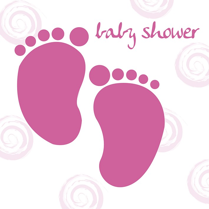 Baby girl feet baby shower greeting card m4hsunfo