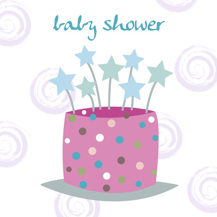 baby shower celebration greeting card