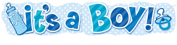 its a boy giant banner