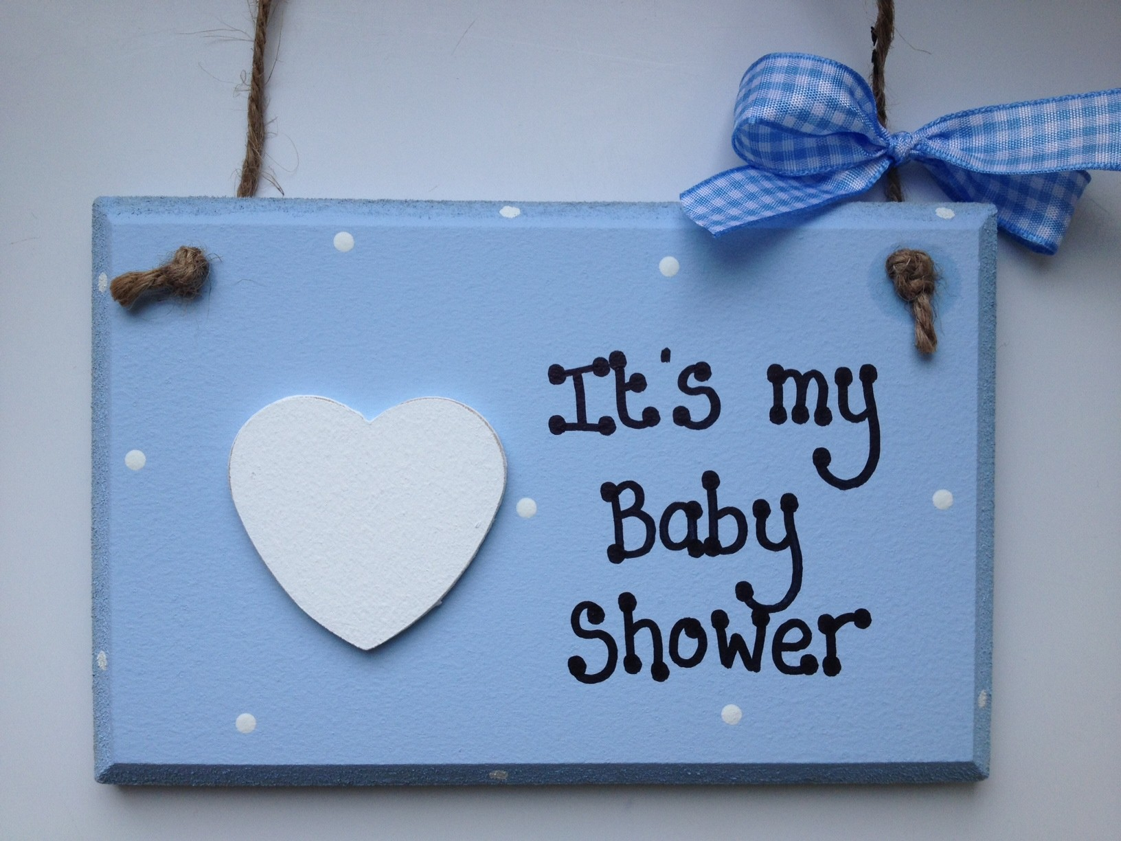 Blue It S My Baby Shower Wooden Plaque