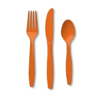 orange cutlery set