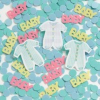 A Baby Clothes Line Pack of Table Confetti