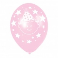 1st Birthday Pink & Lilac Balloons