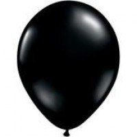 Ten Black Latex Balloons