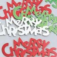 Festive Merry Christmas Confetti