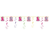 One-derful Girl Swirl Garland