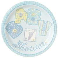 Baby Boy Stitchings Pack of Dinner Plates