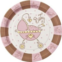 A Baby Joy Pink Pack of 8 Plates